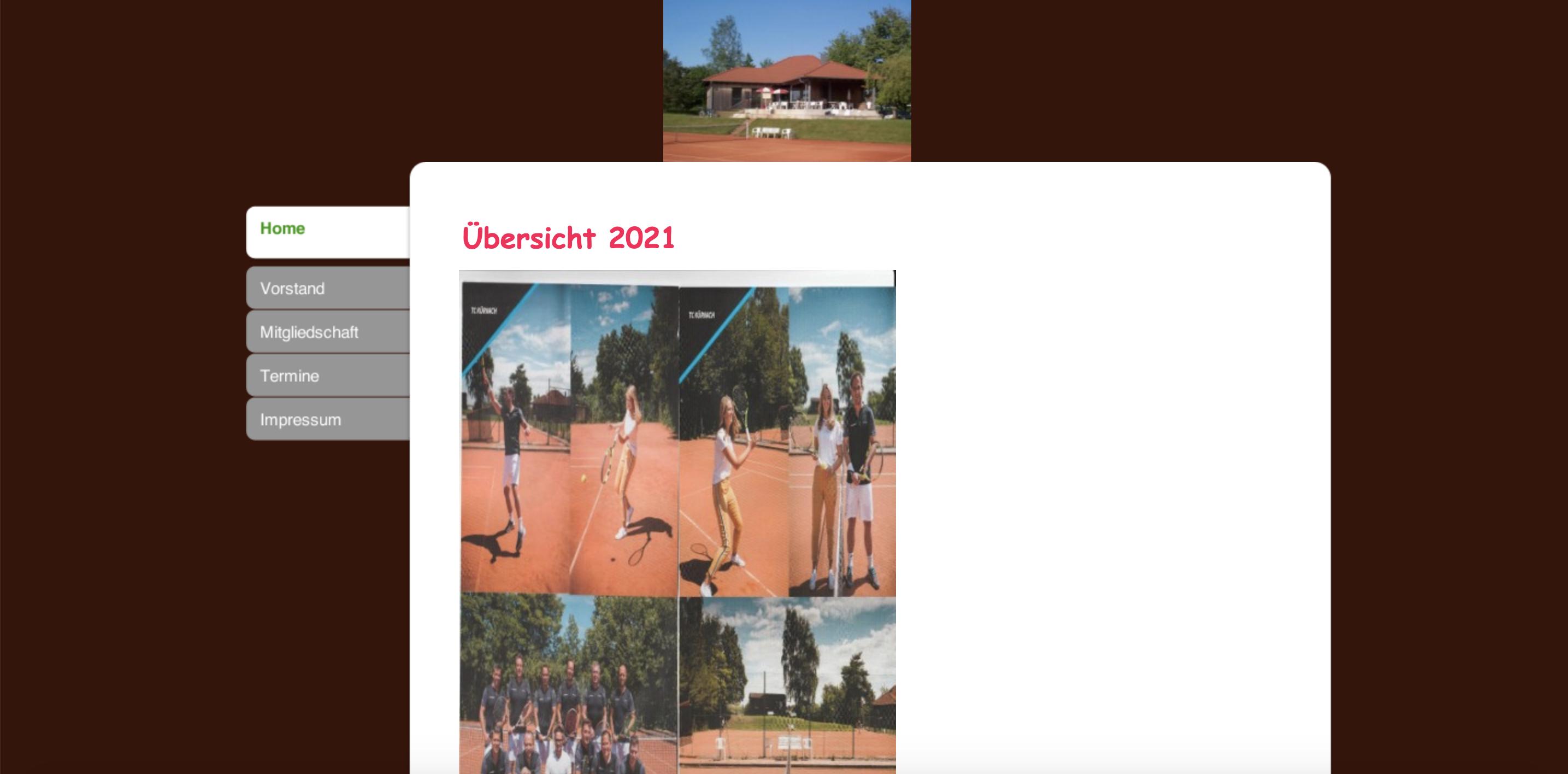 Die Homepage des TC Kürnach in neuem Glanz!